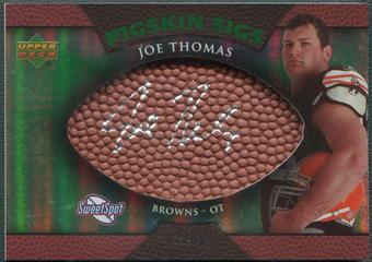 2007 Sweet Spot #JT Joe Thomas Pigskin Green Rookie Auto #02/50