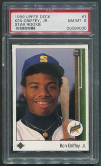1989 Upper Deck #1 Ken Griffey Jr. Rookie PSA 8 (NM-MT)