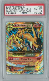 Pokemon XY Flashfire Single M Charizard EX 107/106 Secret Rare PSA 8