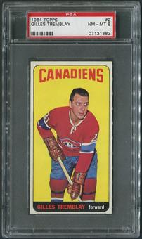 1964/65 Topps Hockey #2 Gilles Tremblay PSA 8 (NM-MT)
