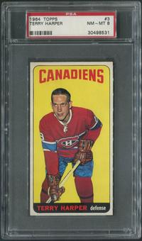 1964/65 Topps Hockey #3 Terry Harper PSA 8 (NM-MT)