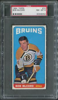 1964/65 Topps Hockey #10 Bob McCord PSA 8 (NM-MT)