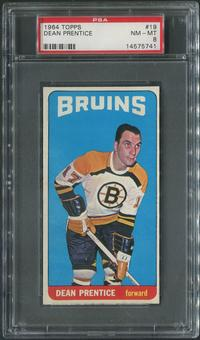 1964/65 Topps Hockey #19 Dean Prentice PSA 8 (NM-MT)