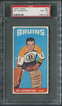 1964/65 Topps Hockey #21 Ed Johnston PSA 8 (NM-MT)