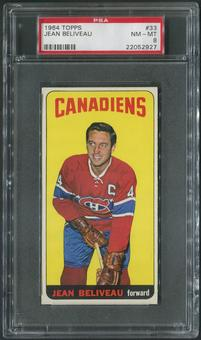 1964/65 Topps Hockey #33 Jean Beliveau SP PSA 8 (NM-MT)