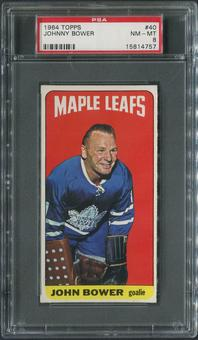 1964/65 Topps Hockey #40 Johnny Bower PSA 8 (NM-MT)
