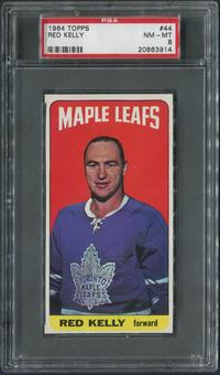 1964/65 Topps Hockey #44 Red Kelly PSA 8 (NM-MT)