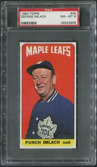 1964/65 Topps Hockey #45 Punch Imlach CO PSA 8 (NM-MT)