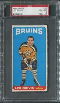 1964/65 Topps Hockey #50 Leo Boivin PSA 8 (NM-MT)