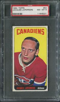 1964/65 Topps Hockey #53 Jacques Laperriere PSA 8 (NM-MT)