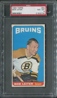 1964/65 Topps Hockey #63 Bob Leiter PSA 8 (NM-MT)
