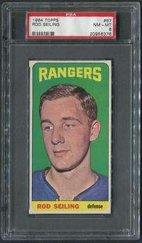 1964/65 Topps Hockey #67 Rod Seiling Rookie PSA 8 (NM-MT)