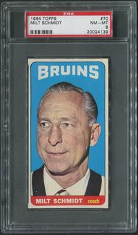 1964/65 Topps Hockey #70 Milt Schmidt CO PSA 8 (NM-MT)
