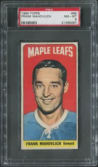 1964/65 Topps Hockey #85 Frank Mahovlich PSA 8 (NM-MT)