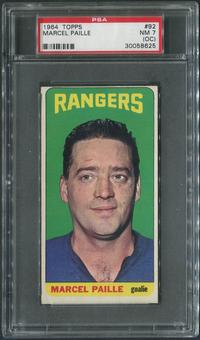 1964/65 Topps Hockey #92 Marcel Paille SP Rookie PSA 7 (NM) (OC)