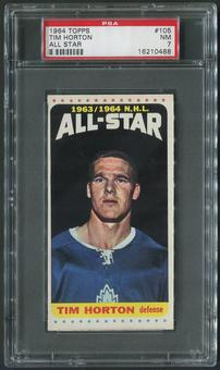 1964/65 Topps Hockey #105 Tim Horton All Star SP PSA 7 (NM)