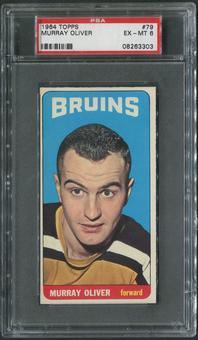 1964/65 Topps Hockey #79 Murray Oliver PSA 6 (EX-MT)