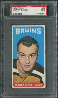 1964/65 Topps Hockey #79 Murray Oliver PSA 5 (EX)