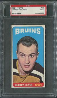 1964/65 Topps Hockey #79 Murray Oliver PSA 7 (NM)