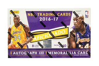 2016/17 Panini Aficionado Basketball Hobby Box (PLUS 2 Panini Day Packs!)