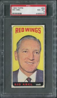1964/65 Topps Hockey #93 Sid Abel CO PSA 8 (NM-MT)
