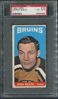 1964/65 Topps Hockey #100 Johnny Bucyk PSA 4 (VG-EX)