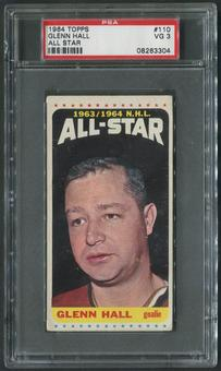 1964/65 Topps Hockey #110 Glenn Hall All Star PSA 3 (VG)