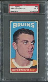 1964/65 Topps Hockey #72 Gary Dornhoefer SP Rookie PSA 3 (VG)