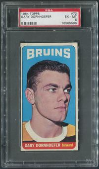 1964/65 Topps Hockey #72 Gary Dornhoefer SP Rookie PSA 6 (EX-MT)