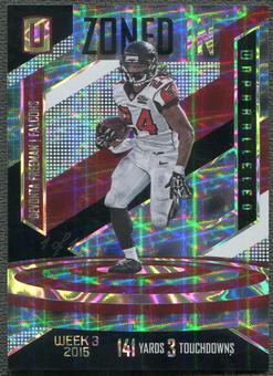 2016 Panini Unparalleled #5 Devonta Freeman Zoned In Black #1/1