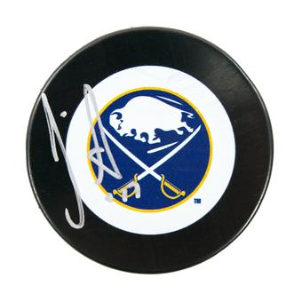 JP Dumont Autographed Buffalo Sabres Hockey Puck