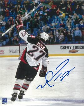Michael Peca Autographed Buffalo Sabres 8x10 White Jersey Photo
