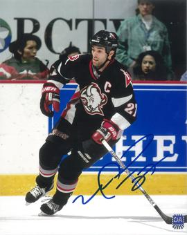 Michael Peca Autographed Buffalo Sabres 8x10 Black Jersey Photo