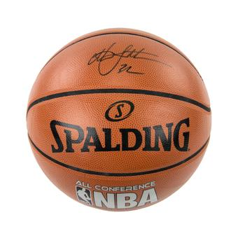Christian Laettner Autographed NBA Spalding Basketballs