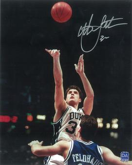 Christian Laettner Autographed Duke 8x10 Closeup Photo