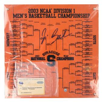 Jim Boeheim Autographed Syracuse Orangeman Orange Wood Floor Boards (Steiner COA)