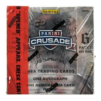 2013/14 Panini Crusade Basketball Hobby Box (w/Red Security Tape)
