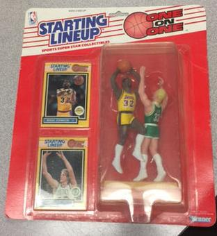 1989 Kenner Starting Lineup Larry Bird & Magic Johnson One On One Unopened