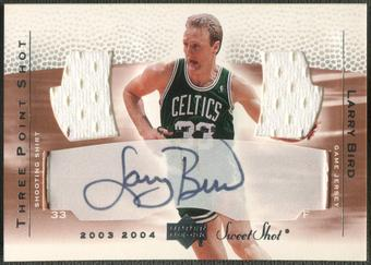 2003/04 Sweet Shot #LB3 Larry Bird Three-Point Shots Jersey Auto /33