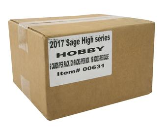 2017 Sage Hit Premier Draft High Football Hobby 16-Box Case