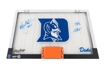 Christian Laettner Autographed Duke Backboard Shot inscription
