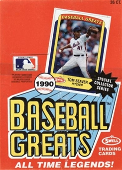 1990 Swell Baseball Greats Baseball Wax Box