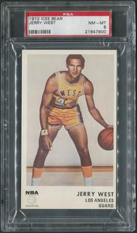 1972/73 Icee Bear Basketball #19 Jerry West PSA 8 (NM-MT)