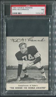 1961 Kahn's Wieners Football #20 Mike McCormack PSA 7 (NM)