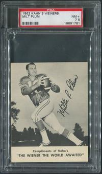 1962 Kahn's Wieners Football #25 Milt Plum PSA 7.5 (NM+)