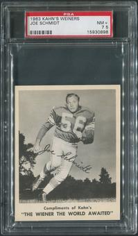 1963 Kahn's Wieners Football #73 Joe Schmidt PSA 7.5 (NM+)