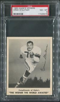 1963 Kahn's Wieners Football #79 Ernie Stautner PSA 8 (NM-MT)
