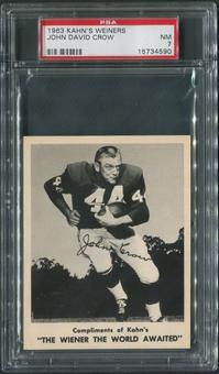 1963 Kahn's Wieners Football #13 John David Crow PSA 7 (NM)