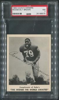 1963 Kahn's Wieners Football #7 Roosevelt Brown PSA 7 (NM)
