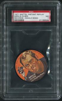 1971 Mattel Mini-Records Football #FB13 Merlin Olsen PSA 7 (NM)